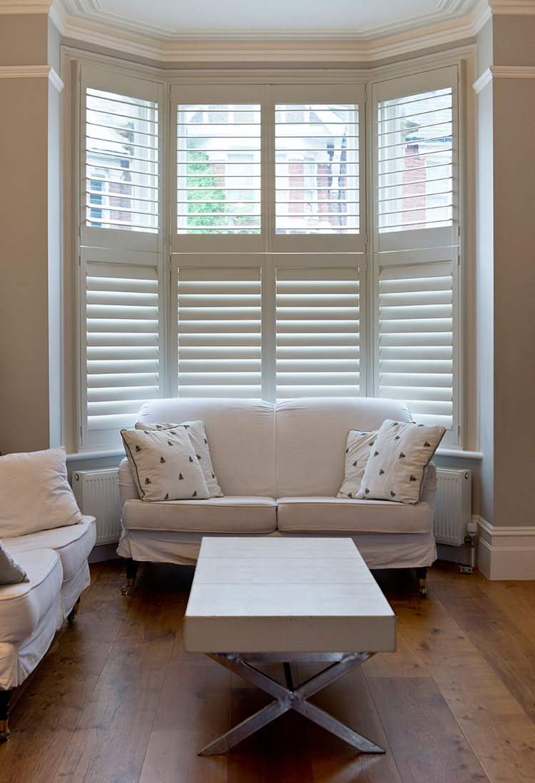 Bay window interior shutters in Hull