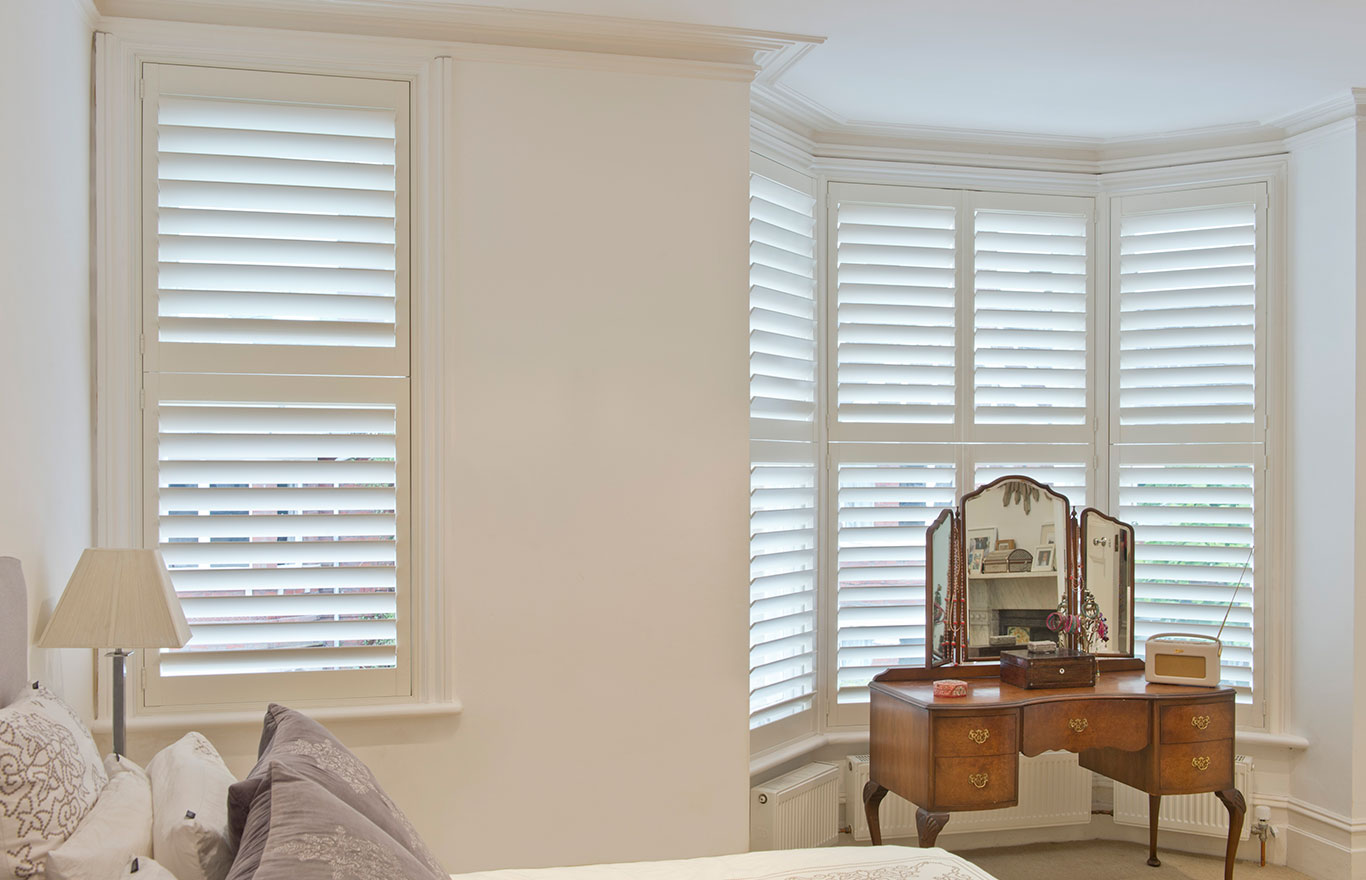 Bay window interior shutters Hull