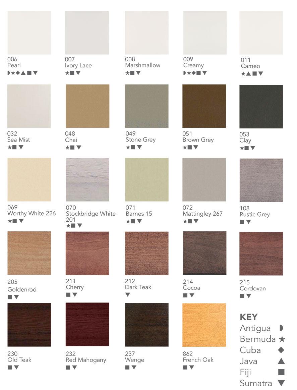 plantation shutter colours