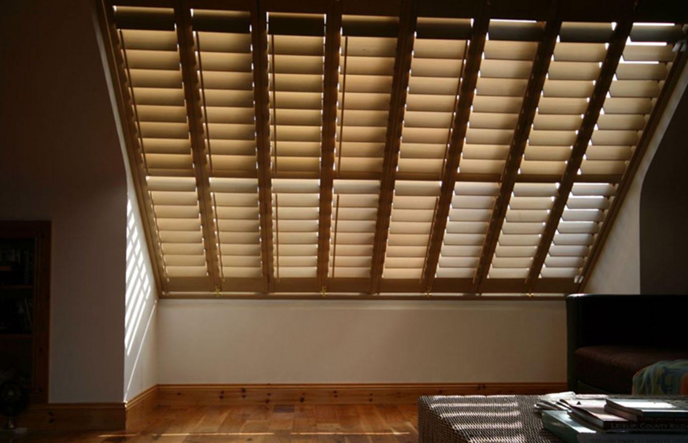 skylight window plantation shutters hull